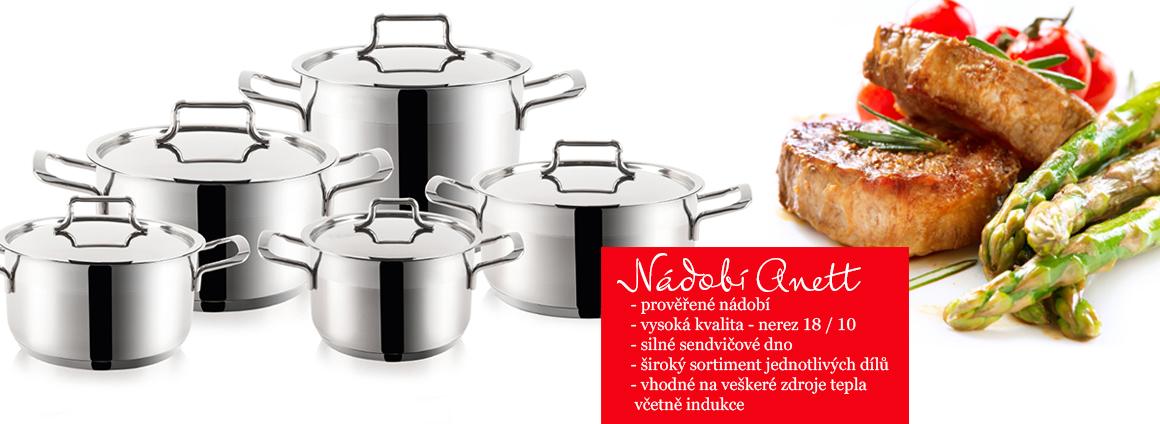 Nerezové nádobí řady Anett