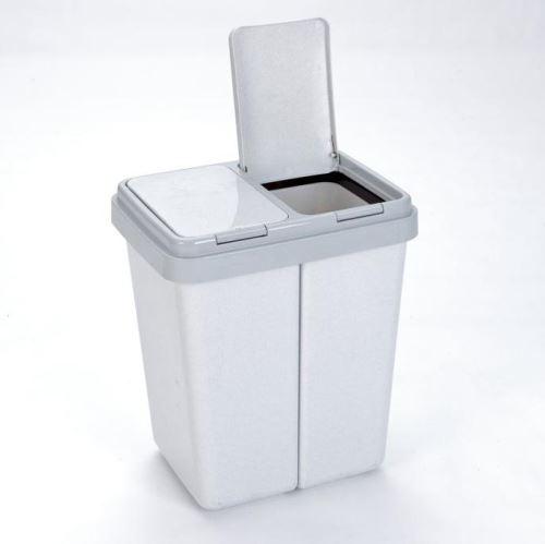 AXENTIA Odpadkový koš na tříděný odpad 2 x 23 l