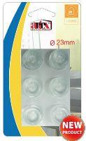 ARTEX Chránič nábytku, nárazník silikon, 6 ks, 23 mm, samolepící