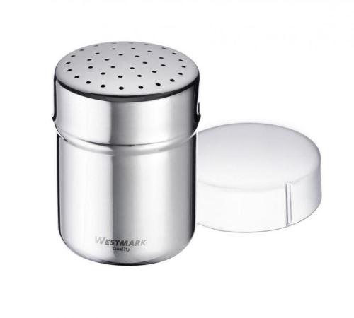 WESTMARK Cukřenka na moučkový cukr s menšími otvory 150 ml nerezová, s víčkem