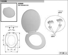 SLOVPLAST MYJAVA Sedátko WC T3550, bílé