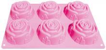 ALVARAK Forma růží na výrobu mýdla 6 ks, silikon