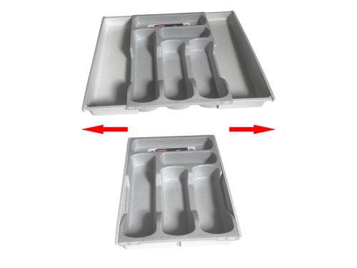 CURVER Příborník roztahovací, plast, šedý