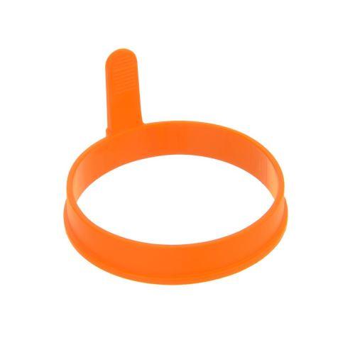 ORION Forma silikonová na sázená vejce kruh, o 9,5 cm, výška 2,1 cm, oranžová