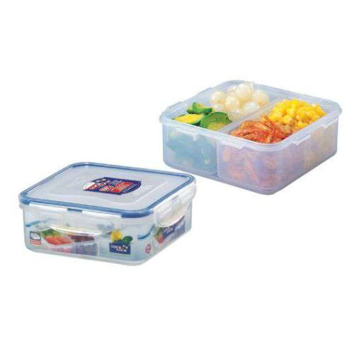 LOCK & LOCK Dóza na potraviny 870 ml, 15,5 x 15,5 x 6 cm s přihrádkami, HPL823C