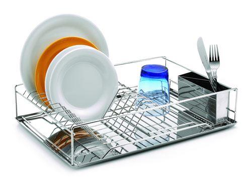 WEIS Odkapávač na nádobí nerez s podnosem nerez 48 x 33 x 13 cm