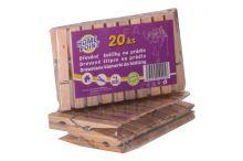 FAVE Kolíčky na prádlo 20 ks, 7 cm, dřevo