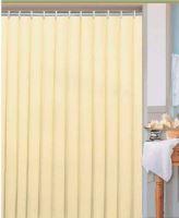 DURAMAT Koupelnový závěs jednobarevný 180 x 200 cm, textilní, béžový