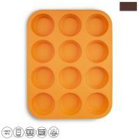 ORION Forma silikonová na muffiny 12 ks, 32,5 x 25 x 3 cm, oranžová