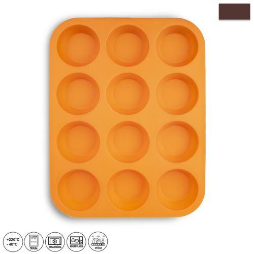 ORION Forma silikonová na muffiny 12 ks, 32,5 x 25 x 3 cm, oranžová_0