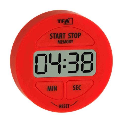 TFA Digitální minutka červená, 38010072