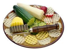 SONIX Nůž vlnkovací, mřížka, dřevo / nerez