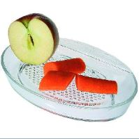 ORION Skleněné struhadlo na zázvor, jablka, mrkev atd. 20 cm