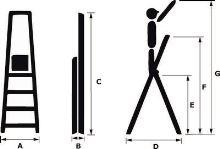 ALDO Skládací hliníkové schůdky 6+1, 125 kg_2