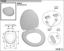 SLOVPLAST MYJAVA Sedátko WC T3545, bílé