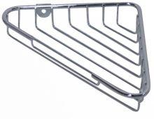 TORO Polička rohová 21,5 x 13,9 x 3,5 cm, pochromovaný drát