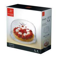 BORMIOLI ROCCO Plastový poklop 27 cm na sýr se skleněným podnosem 28 cm_2