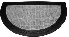FAVE Rohožka půlkruh EXCELENT/ DUO 40 x 60 cm, guma / koberec