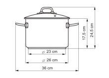 KOLIMAX Hrnec PROFESSIONAL o 26 cm, 8 l, se skleněnou poklicí_0