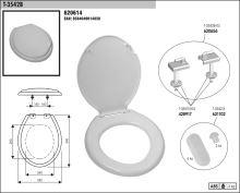 SLOVPLAST MYJAVA Sedátko WC T3542, bílé