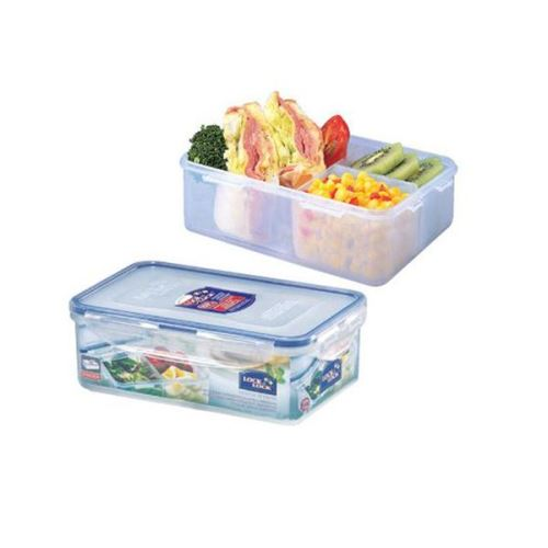 LOCK & LOCK Dóza na potraviny 1 l, 20,5 x 13,4 x 6,9 cm s přihrádkami, HPL817C