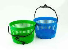 PLASTKON Košík na kolíčky závěsný kulatý, plast, barvy mix