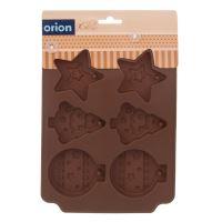 ORION Forma na vánoční ozdoby 6 ks, silikon, hnědá_2