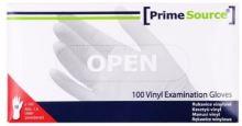 Vinylové vyšetřovací rukavice L pudrované 100 ks, jednorázové