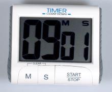 Digitální minutka s magnetem, bílá