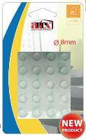 ARTEX Chránič nábytku, nárazník silikon, 20 ks, 8 mm, samolepící