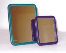 Zrcátko stolní ELEGANZA s opěrkou 18,5 x 14 cm, plast, barvy mix