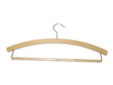 DIPRO PROSEČ Ramínko dřevěné pánské L háček 42 cm, vosk