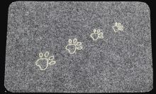 FAVE Rohožka TLAPKY 40 x 60 cm, guma / koberec