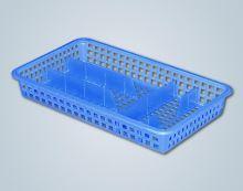 ALFA plastik Příborník úzký 38 x 21 x 5,6 cm, plast, bílý/hnědý