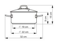 KOLIMAX Kastrol PROFESSIONAL o 22 cm, 3 l, se skleněnou poklicí_0