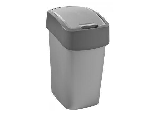 CURVER Odpadkový koš FLIP BIN 10 l, šedý
