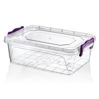 HOBBY LIFE Box s víkem MULTI nízký 13 l, transparentní