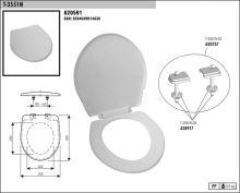 SLOVPLAST MYJAVA Sedátko WC T3551, bílé