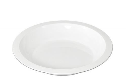 PETRA plast Talíř hluboký 24 cm s okrajem, plast, bílý