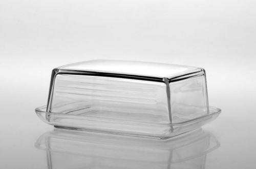 FLORINA Dóza na máslo skleněná 14,5 x 12 x 5,5 cm, čirá