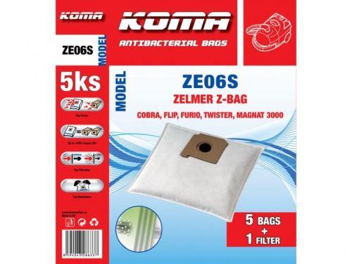 KOMA Sáčky do vysavače ZE06S - Zelmer Z-BAG textilní, 5ks + mikrofiltr