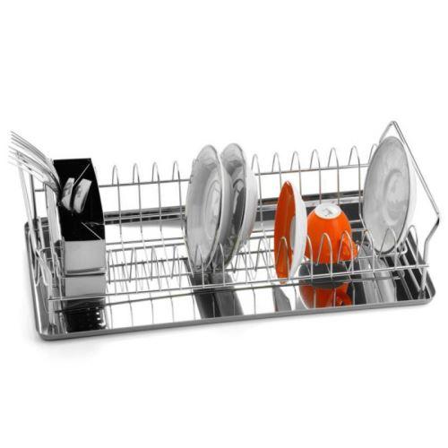WEIS Odkapávač na nádobí nerez s podnosem nerez 45 x 21,5 x 11,5 cm