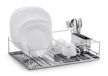 FLORINA Odkapávač na nádobí AMPIO chrom s podnosem nerez 47 x 32 cm