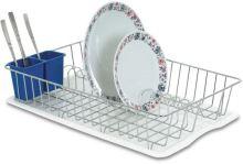 ARTEX Odkapávač na nádobí JALL CHROME 47 x 32 cm s podnosem, pochromovaný drát