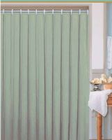 DURAMAT Koupelnový závěs jednobarevný 180 x 200 cm, textilní, zelený