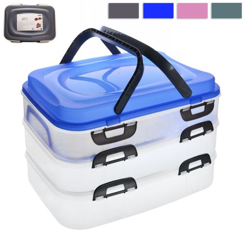 LAZET Box PIKNIK 3 patra s uchy, barvy mix