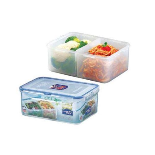 LOCK & LOCK Dóza na potraviny 2,3 l, 23 x 16 x 9,5 cm s přihrádkami, HPL825B