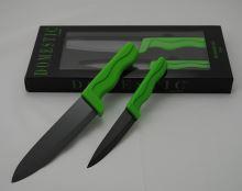 MÄSER Sada keramických nožů 2ks 10 cm a 15 cm, zelená / černá