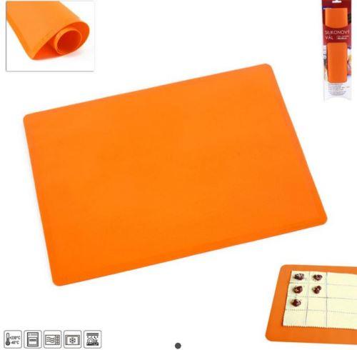ORION Vál silikonový na těsto 40 x 30 cm, oranžový
