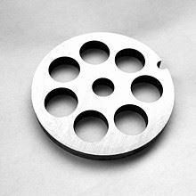 PORKERT Řezná deska hrubost 12 mm, určená pro mlýnek na maso vel. č. 5